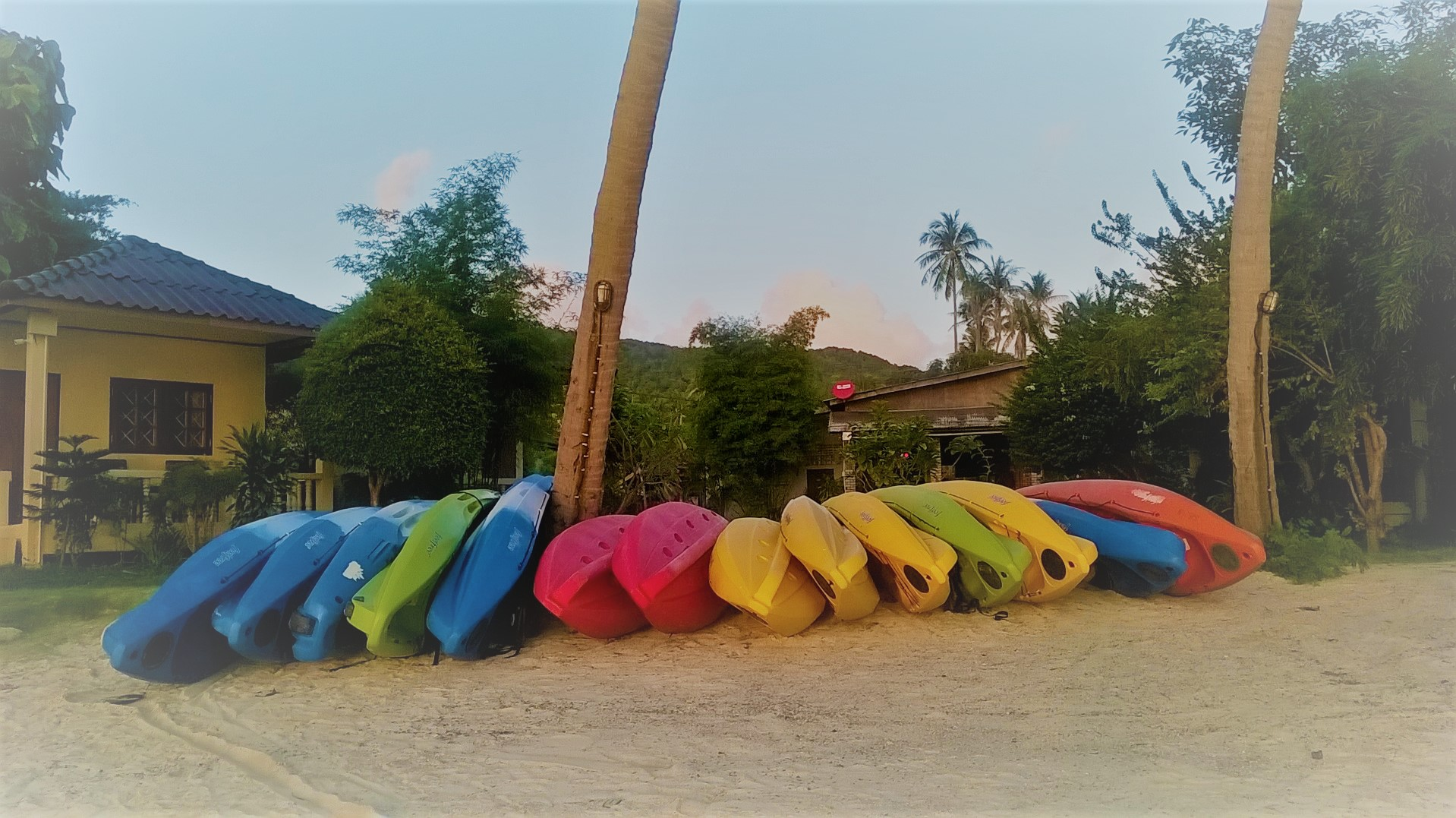 Kayaks at Ao Nai Wok, Koh Phangan, Thailand