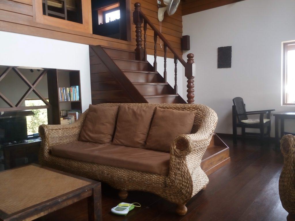 Living Room - Baan Siam Phangan. Long Term House Rental in Koh Phangan.