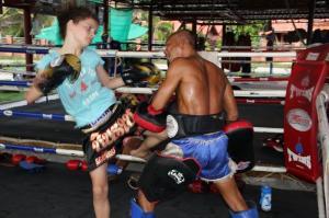 Training at Muay Thai Chinnarach